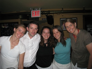 At my NYC birthday party with some of my friends from high school.